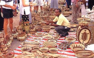 Woven baskets, New Guinea