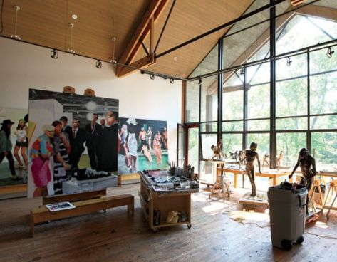 Eric Fischl studio 1